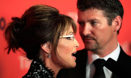 Former Republican vice-presidential candidate Sarah Palin, left, and her husband Todd