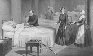 Florence Nightingale in a hospital at Scutari