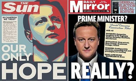 Sun-Mirror election front pages composite