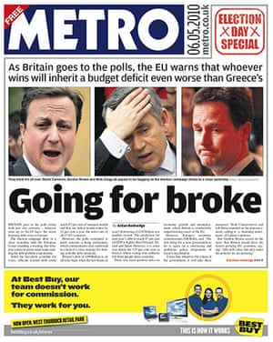 Front pages: Metro