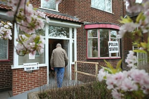 Voting updated: Man arrives to cast vote at a residential home in Dudley