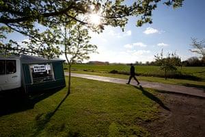 Voting updated: Voting at dawn in Kenton, Suffolk