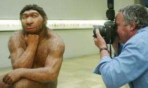 Museum reconstruction of Neanderthal man