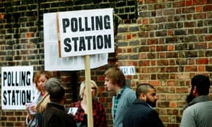 a polling station in Tower Hamlets, East London