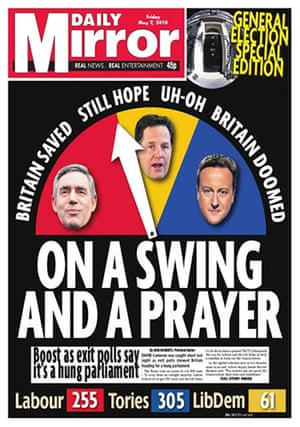Daily Mirror: Daily Mirror front page
