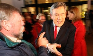 Gordon Brown and wife Sarah arrive at the Adam Smith College for the Kirkcaldy and Cowdenbeath count