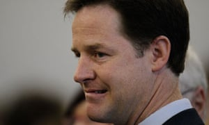 Liberal Democrat leader Nick Clegg at his count in Sheffield
