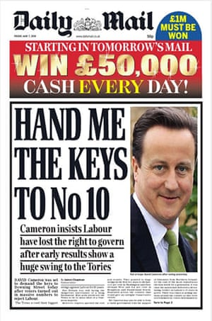 Election day front pages: Daily Mail