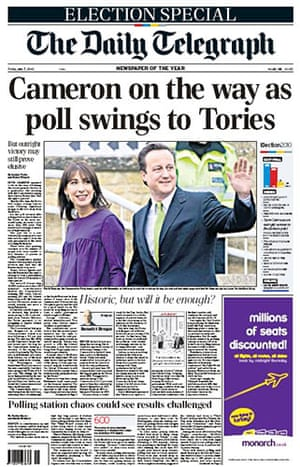 Election day front pages: The Daily Telegraph