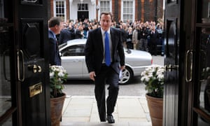 David Cameron arrives at St Stephen's Club in central London to give his press conference