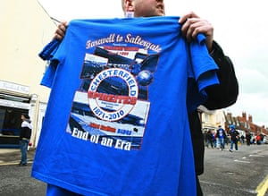 Chesterfield : Special commemorative t-shirts are on sale outside the ground