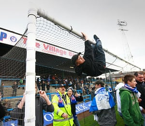 Chesterfield : Fans enjoy themselves after the match
