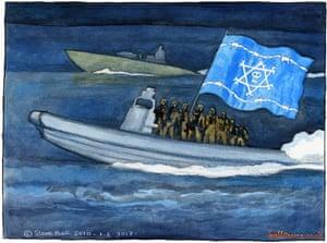 01:06:10: Steve Bell on Gaza flotilla attack