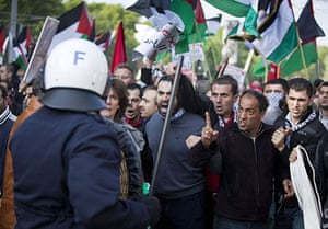 Israel protests: Members of the Dutch Palestine Committee protest in the Hague