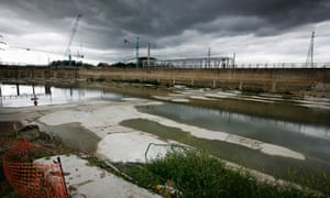 A desalination plant being built at the Thames Water sewage plant in Beckton, east London, in 2008.
