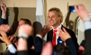 Geert Wilders on election night