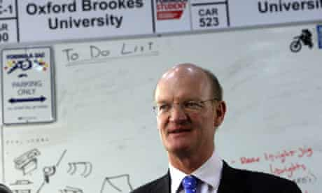David Willetts at Oxford Brookes university on 10 June 2010.