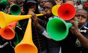 South African boys, blow their vuvuzelas