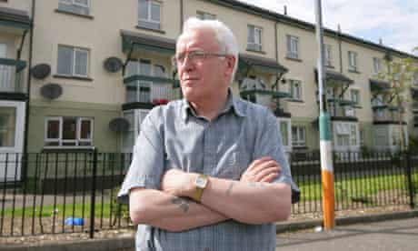 John Kelly stands at thespot where his brother Michael was killed on Bloody Sunday