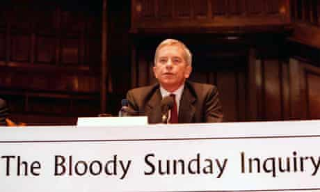 Lord Saville chairs a hearing of he Bloody Sunday inquiry