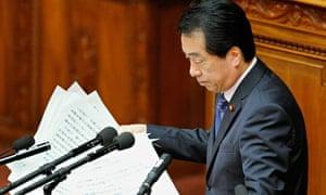 Japan's Prime Minister Naoto Kan col