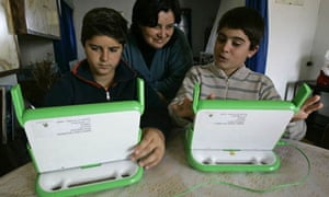 Students in Uruguay use their free computers