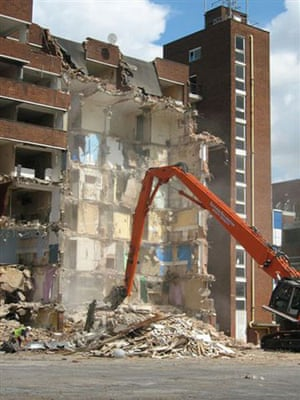 Market Estate Demolition: The final denouement - after 43 years the Market Estate is ripped down