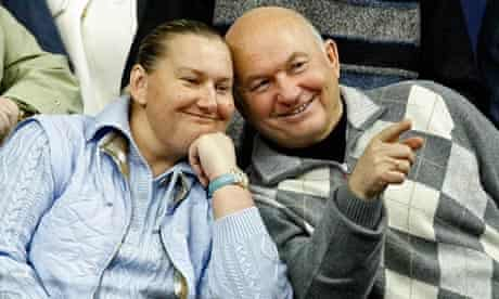 Yuri Luzhkov and his wife, Yelena Baturina, at a 2007 tennis tournament in Moscow