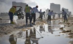 BP oil spill clean-up Alabama