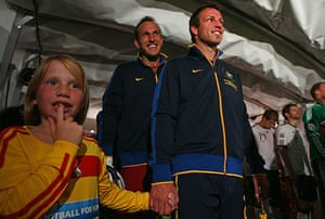 World Cup Day 3: Australia's Lucas Neill, right, and Mark Schwarzer prepare to play Germany