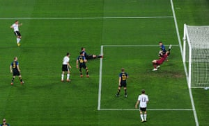 World Cup Day 3: Lukas Podolski opens the scoring in the Germany v Australia Group D match