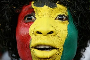 World Cup Day 3: Ghana fan watches the Serbia v Ghana match