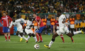 World Cup Day 3: Asamoah Gyan scores fromtt he penalty spot