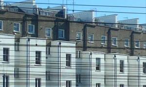 Houses in central London. Photograph: Paul Owen