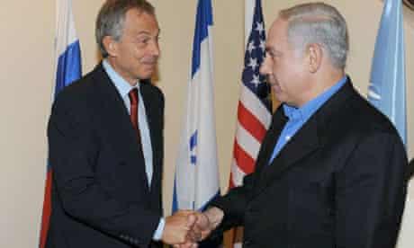 Tony Blair meets Binyamin Netanyahu in Jerusalem on 11 June 2010