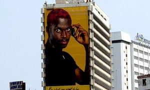 Mobile phone advert in Africa