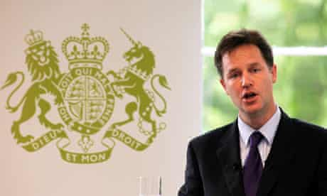 Nick Clegg says far-reaching action is needed to cut the British deficit