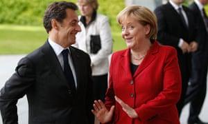 Nicolas Sarkozy with Angela Merkel