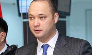 Maxim Bakiyev attending the opening ceremony of the Central Asian Stock Exchange in Bishkek in 2009