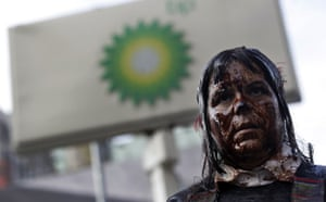 Deepwater Horizon: BP oil spill : protests, demonstrations and signs