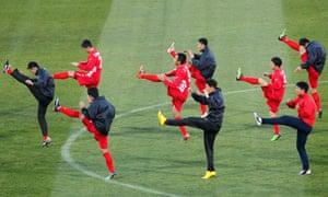 North Korea's footballers