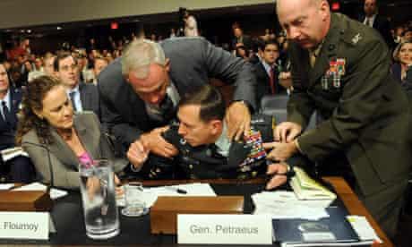 General David Petraeus collapses