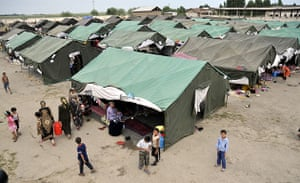 Uzbek refugees: Uzbek refugees who fled from Kyrgyzstan