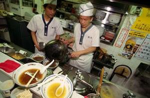 Ramen noodles: Noodle restaurant in Ramen Alley in Sapporo, Japan