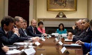 President Obama meets BP executives