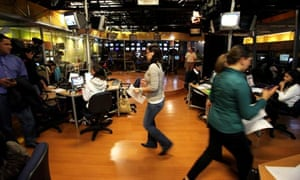 Journalists at Venezuela's only remaining opposition TV station, Globovision