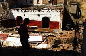 France Floods: Les Arcs: Flooded houses near Draguignan