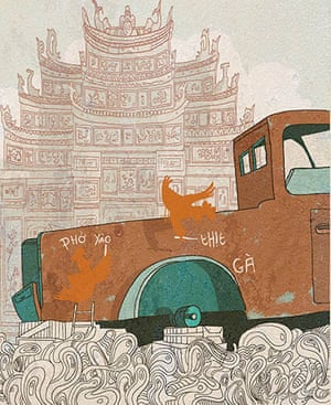 Julian Hanshaw: This is the first siting of the red car which features in The Art of Pho