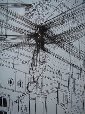 Julian Hanshaw: There's a huge amount of wire and cable strung from building to building