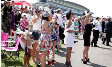 Spectators at Ladies' Day at Royal Ascot.